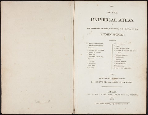 THE ROYAL UNIVERSAL ATLAS, OF THE PRINCIPAL EMP...