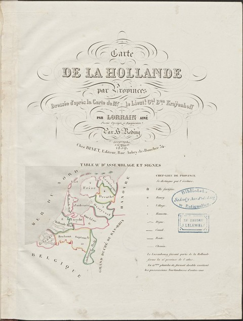 Carte de la Hollande par provinces