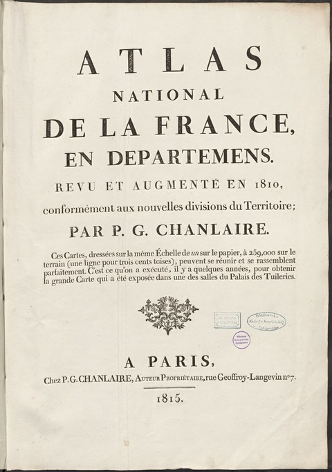 Atlas national de la France, en departemens