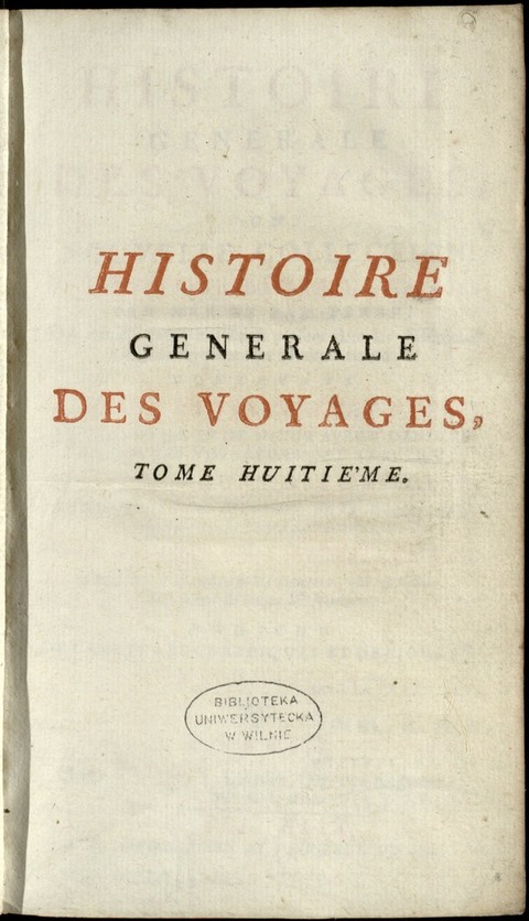 TOME HUITIÈMEVoyages au long de la côte occiden...