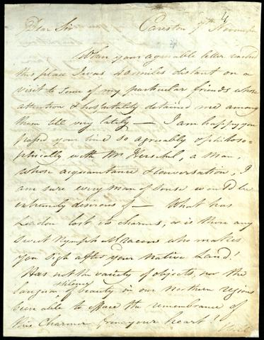 """Dear Sir When your agreeable letter reached th..."