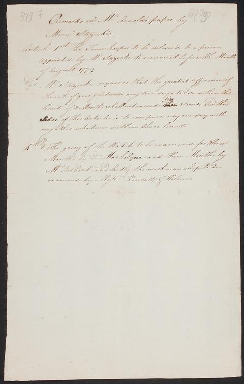 """Remarks on Mr. Arnold's paper by Mons. Strzeck..."
